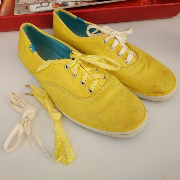 2498a426de0bf Keds Shoes - Yellow keds champion sneakers w  2 pairs laces